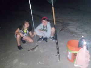 Flounder gigging report, kids flounder gigging